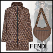 FENDI Stripes Monogram Long Jackets