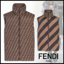 FENDI Stripes Monogram Down Jackets