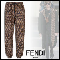FENDI Monogram Nylon Pants