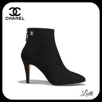 CHANEL Tweed Ankle & Booties Boots