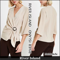 River Island Casual Style Cropped Plain Medium Shirts & Blouses