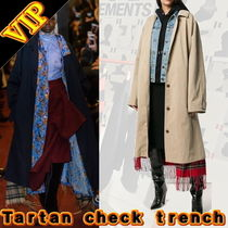 VETEMENTS Other Check Patterns Unisex Street Style Plain Long Coats