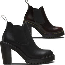 Dr Martens Street Style Leather Block Heels Ankle & Booties Boots