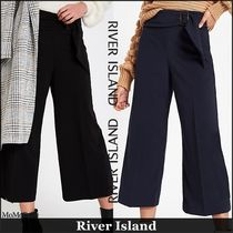 River Island Casual Style Plain Medium Culottes & Gaucho Pants