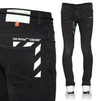 Off-White Denim Plain Skinny Fit Jeans & Denim