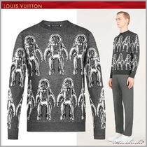 Louis Vuitton Crew Neck Silk Long Sleeves Sweaters