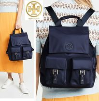 Tory Burch Casual Style Nylon A4 2WAY Plain Backpacks