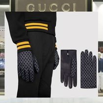 GUCCI Other Check Patterns Plain Leather