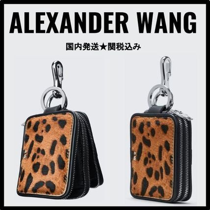 Leopard Patterns Blended Fabrics Leather Accessories
