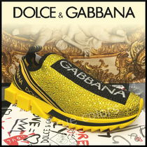 Dolce & Gabbana Blended Fabrics Street Style With Jewels Loafers & Slip-ons