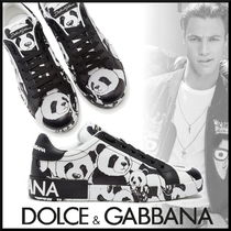 Dolce & Gabbana Street Style Other Animal Patterns Leather Sneakers