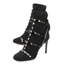 VALENTINO Leather Pin Heels High Heel Boots