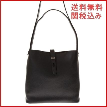 Casual Style 2WAY Plain Leather Totes