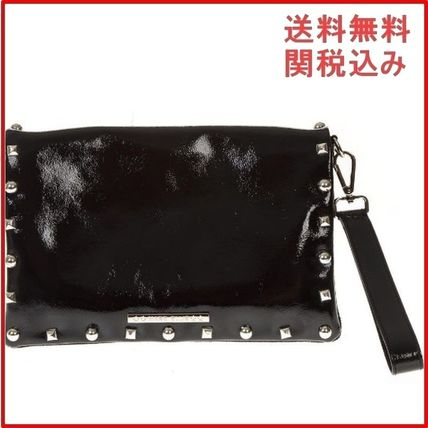 Casual Style 2WAY Plain Leather Clutches