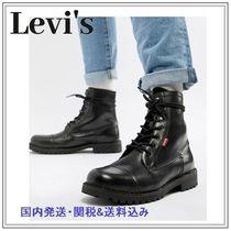 Levi's Mountain Boots Plain Leather Outdoor Boots