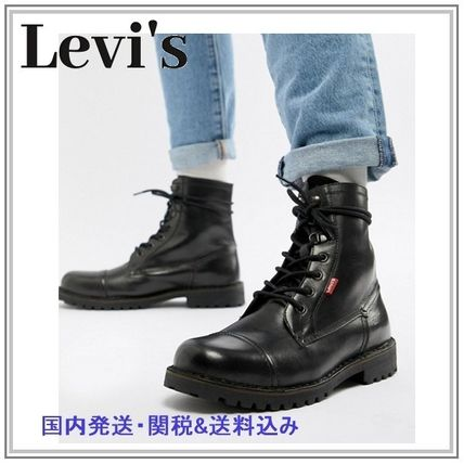 Mountain Boots Plain Leather Outdoor Boots