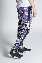KDNK Printed Pants Stripes Camouflage Street Style