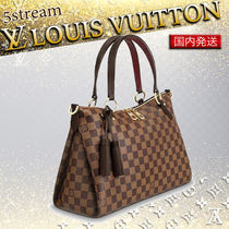 Louis Vuitton DAMIER Other Check Patterns Blended Fabrics Tassel 2WAY Leather