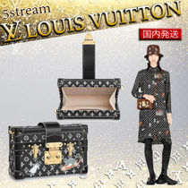 Louis Vuitton PETITE MALLE Monogram Blended Fabrics 2WAY Other Animal Patterns Leather