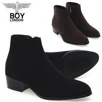 BOY LONDON Suede Street Style Collaboration Plain Boots
