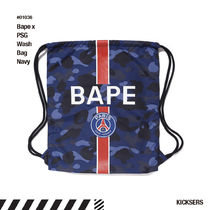 A BATHING APE Unisex Street Style Collaboration Bags