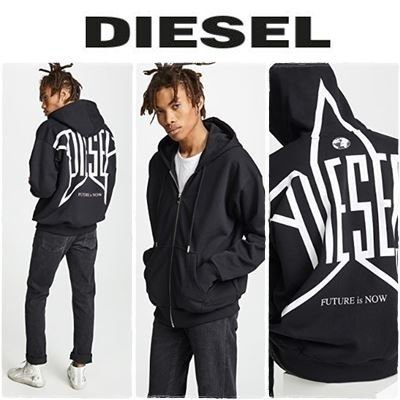 DIESEL Sweatshirts Crew Neck Long Sleeves Plain Sweatshirts