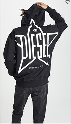 DIESEL Sweatshirts Crew Neck Long Sleeves Plain Sweatshirts 2