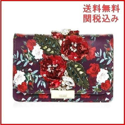 Casual Style Leather Clutches