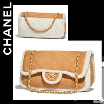 CHANEL Lambskin Chain Plain Bags
