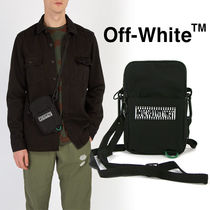 Off-White Unisex Nylon Street Style Bag in Bag Plain