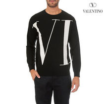 VALENTINO Crew Neck Pullovers Wool Long Sleeves Knits & Sweaters