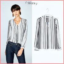 Sfera Stripes Dots Casual Style Long Sleeves Shirts & Blouses