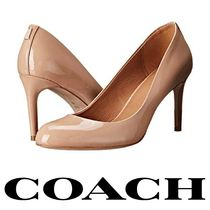 Coach Plain Leather High Heel Pumps & Mules