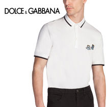 Dolce & Gabbana Street Style Cotton Short Sleeves Polos