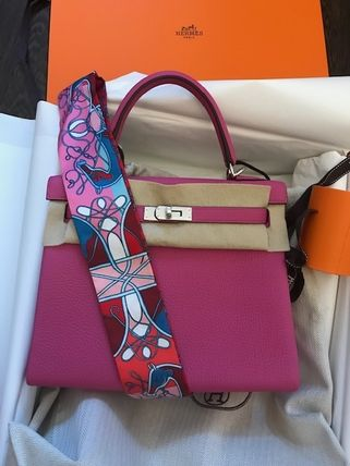 HERMES Kelly 3WAY Plain Leather Handmade Party Style Office Style