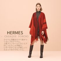 HERMES Other Check Patterns Unisex Wool Tassel Medium Fringes