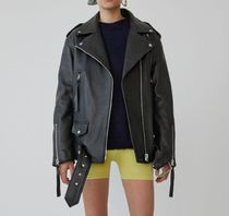 Acne Plain Leather Medium Biker Jackets