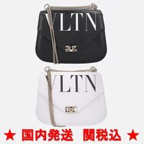 VALENTINO Casual Style Calfskin Chain Shoulder Bags