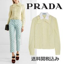 PRADA Stripes Long Sleeves Cotton Elegant Style Shirts & Blouses