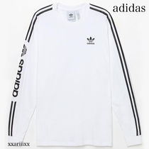adidas Crew Neck Stripes Unisex Street Style Long Sleeves