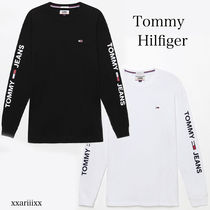 Tommy Hilfiger Crew Neck Street Style Long Sleeves Plain