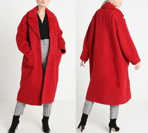 Weekday Casual Style Wool Plain Long Oversized Chester Coats