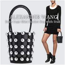 Alexander Wang Studded Leather Straw Bags
