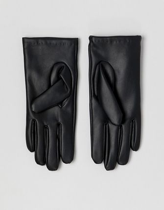 ASOS Leather & Faux Leather Faux Fur Studded Leather & Faux Leather Gloves 3