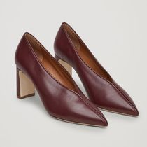 COS Plain Leather Block Heels Elegant Style