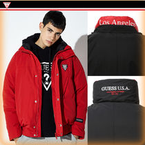 Guess Street Style Plain Down Jackets