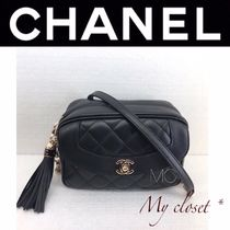 CHANEL ICON Lambskin 3WAY Plain Shoulder Bags