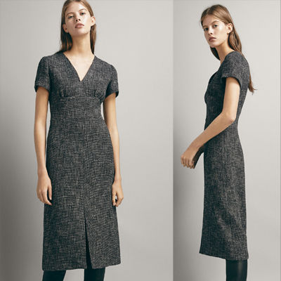 Tight Wool V-Neck Plain Medium Short Sleeves Dresses