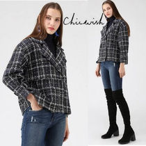 Chicwish Short Other Check Patterns Casual Style Wool Jackets