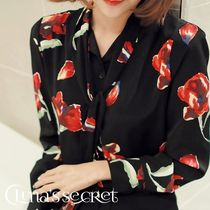 Flower Patterns Long Sleeves Medium Elegant Style